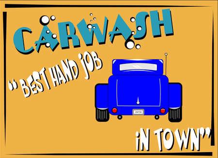 retro carwash  background sign photo