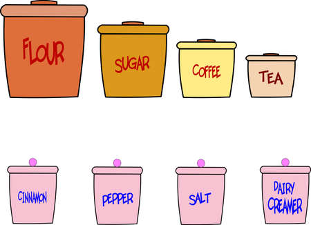substitute: KITCHEN CANISTERS Illustration