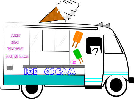 vendors: ICE CREAM TRUCK Illustration