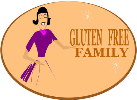celiac: gluten free family  Illustration