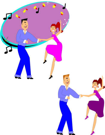 60's: dancers over white