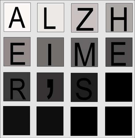 alzheimers concept  Stock Illustratie