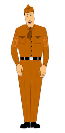 crisp: miltary man  Illustration