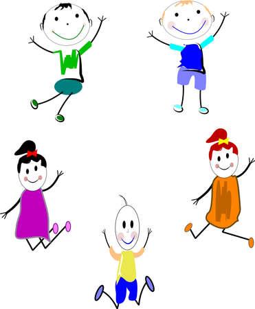 Bambini felici Archivio Fotografico - 13293011