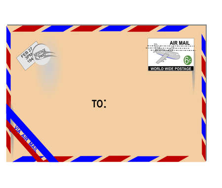 old envelope: old air mail letter