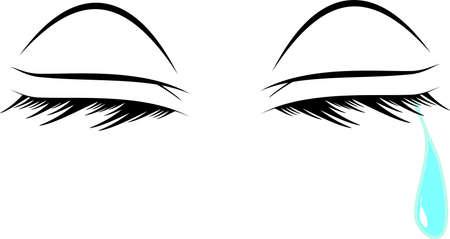 泣いている目