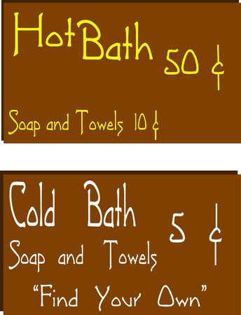 hot bath background