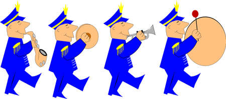 marching band Ilustrace