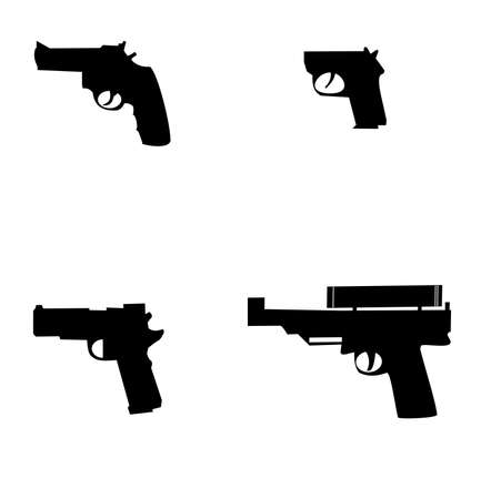 handgun silhouettes Stock Vector - 13476188