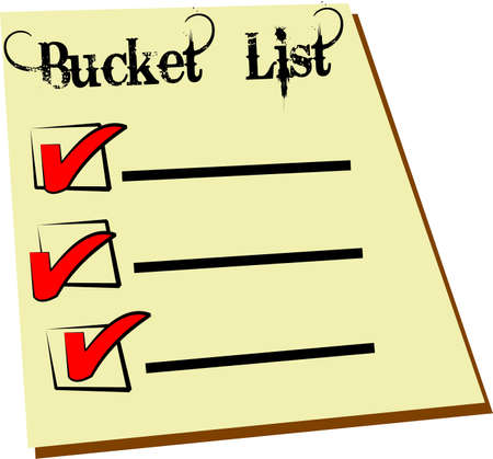 bucket list Stok Fotoğraf - 13476193