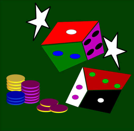 craps: craps abstract over green