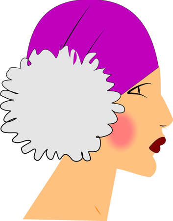 40s: forties flapper dancer profile  Illustration