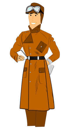 vintage aviator in lewis coat