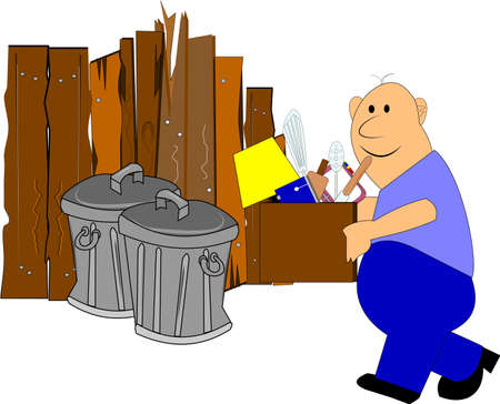 garbage day  Stock Vector - 14480396
