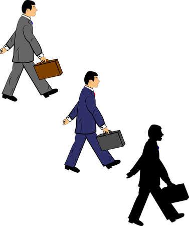 businessman walking  矢量图像