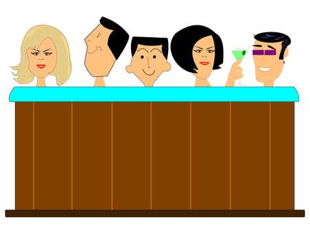 白の人でいっぱい温水浴槽