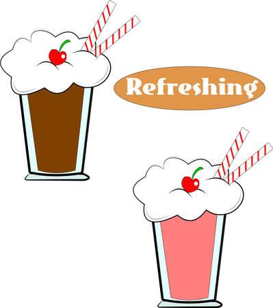 sodas over white with straws