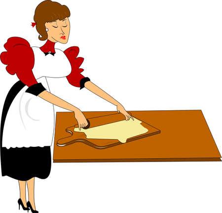 ママの台所で調理