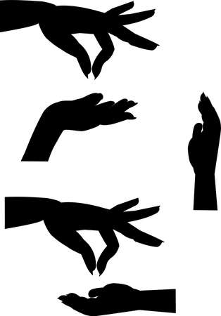 female hands: female hands silhouettes