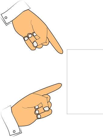 スペース記号をテキスト メッセージのコピーを指している手します。