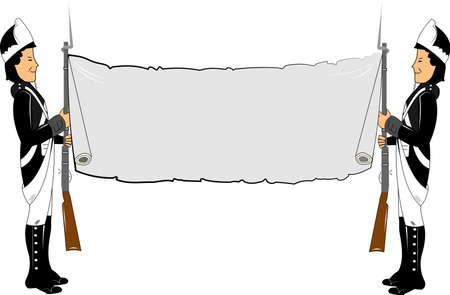 bayonet: military banner wiyh copyspace