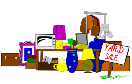 sales book: yard sale  clipart