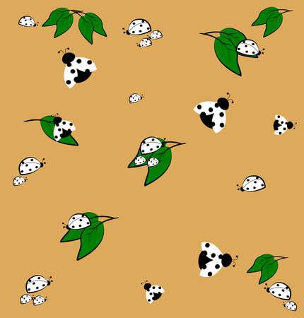 ladybug pattern  Stock Vector - 14891171