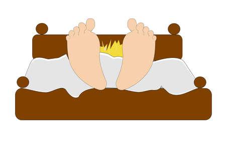 Weckzeit cartoon over white Standard-Bild - 14996895