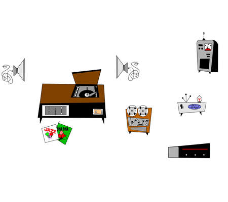 secluded: RETRO ELECTRONICS CLIPART