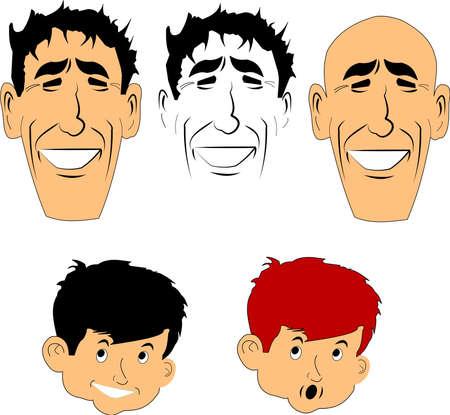 faces Reklamní fotografie - 14996897