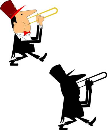 musician over white  Illustration