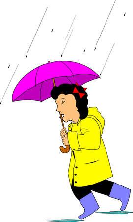 slicker: rain Illustration