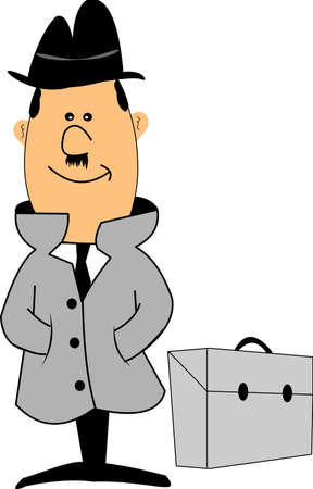 little man with briefcase Vector