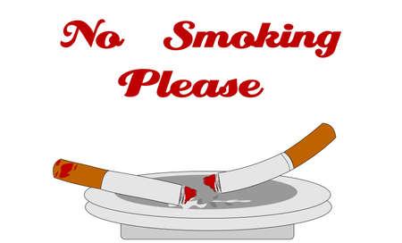 second hand: no smoking please signage
