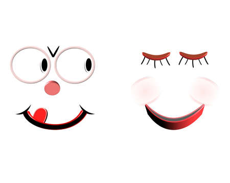 love you smiley eyes in 3d  Vector