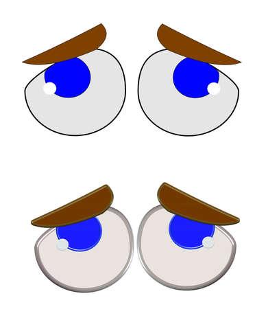 ojos tristes: ojos tristes sobre blanco