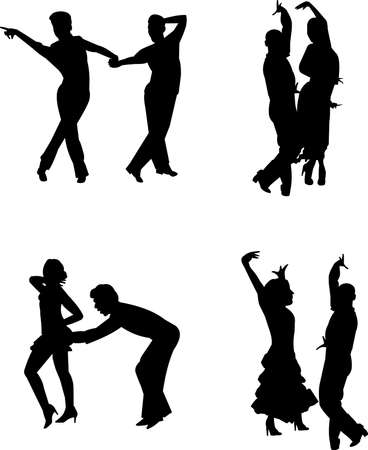 flair: contemporary dancers in silhouette