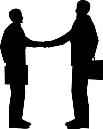 elvonult: üzleti találkozó Illusztráció