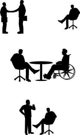 zakenlieden in vergadering situaties
