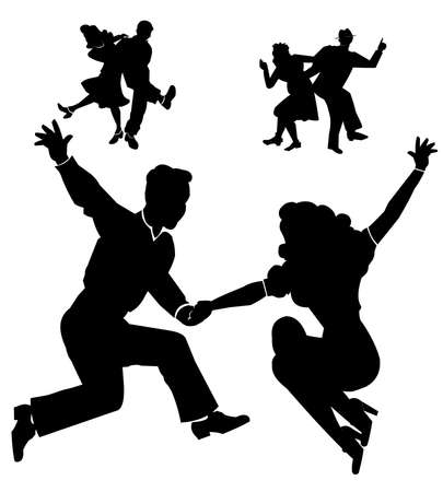 schommelen naar beneden het huis dansers uit jaren vijftig
