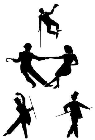 танцор: Все о стиле в силуэте Иллюстрация