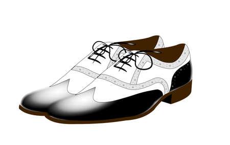 famous gangnam shoes over white Illustration