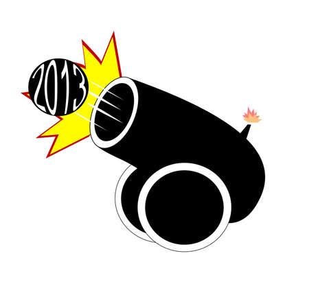2013 cannon over white  Иллюстрация