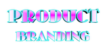 product branding text in 3d over white Vector