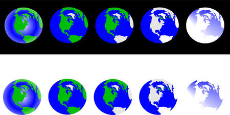global warming snap shot Vector