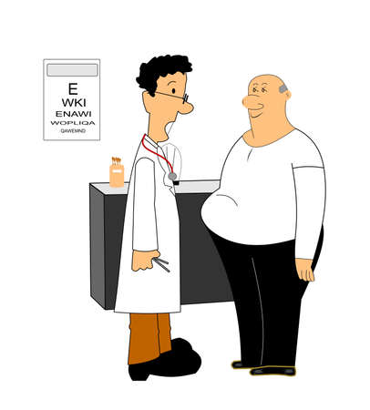 weight loss vector over white