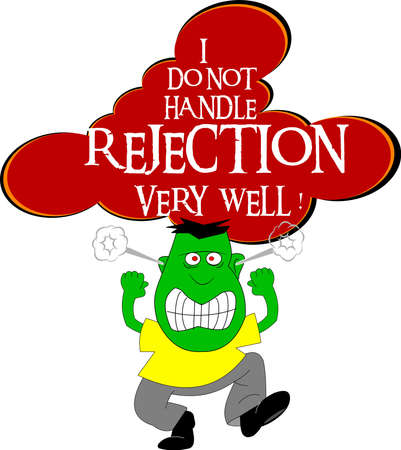 rejection: dont handle rejection well Illustration