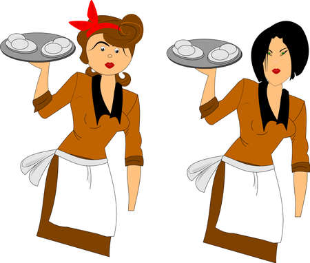 40: waitress in two styles
