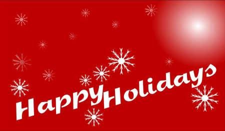 happy holidays card: happy holidays card with retro text