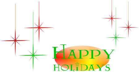 holiday: retro greeting for seasonal holiday
